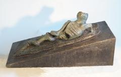 Ascending Form II. Unique cast bronze. L. 23 inches