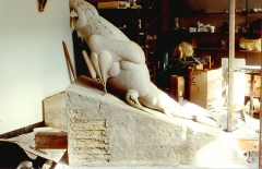 Ascending Form IV. Clay for bronze. L. 48 inches. H. 48 inches.