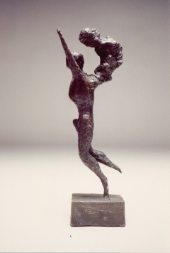 Man Running I. Unique cast bronze. H. 13 inches.