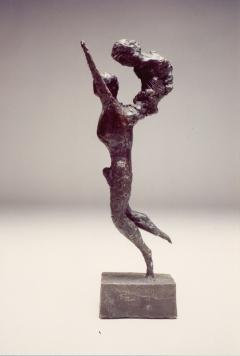 Man Running I. Unique cast bronze. H. 13 inches.