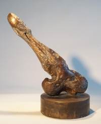 Bone. Unique cast bronze. H. 13 inches.