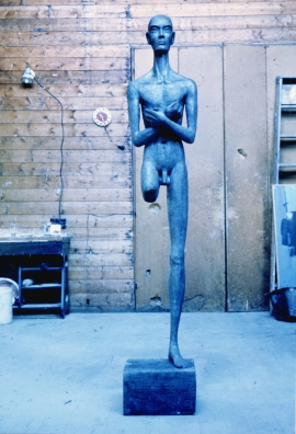 Kouros. Unique polyester resin. H. 74 inches.