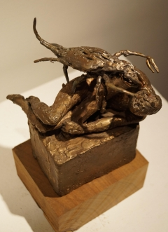 Parthenogenesis II, Sleeping Figure. Unique cast bronze. H. 8 inches. Sold.