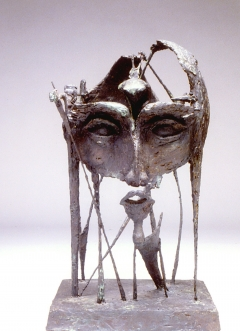 Self Portrait I. Unique cast bronze. H. 20 inches. Sold.