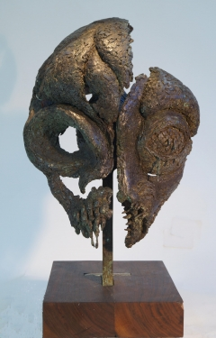 Self Portrait IV: Paleoanthropic Fragments. Unique cast bronze. H. 22 inches.