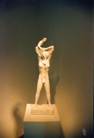 Study for Woman Disrobing I. Plaster for bronze. H. 27 inches.